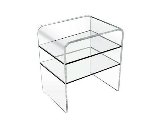 Large TV Stand - Acrylic Side Tables - Spectrum West