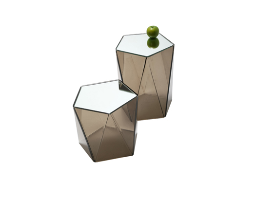 Pentagonal Side Table - Acrylic Side Tables - Spectrum West