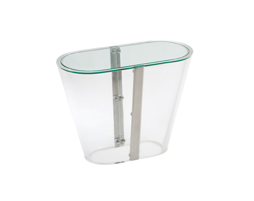 Ova Cona Side Table - Acrylic Side Tables - Spectrum West
