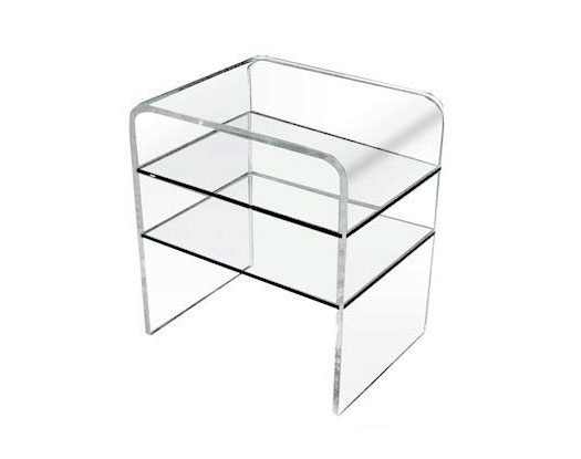 Small TV Stand - Acrylic Side Tables - Spectrum West