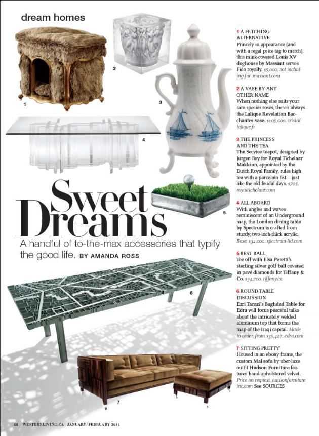 Western Living - January - February 2011 Spread - Spectrum Collection
